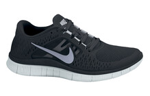 Nike Men's Free Run+ 3 black/reflect silver/pr pltnm